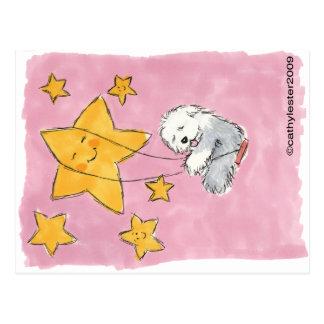 Old English Sheepdog Star Postcard