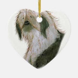 Old English Sheepdog, tony fernandes Christmas Ornament