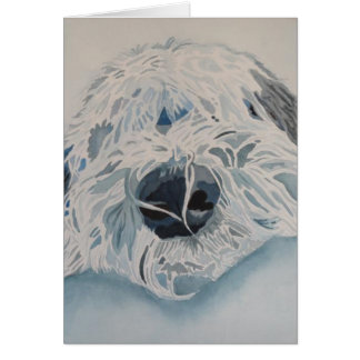 "Old English Sheepdog  ""Water Color"" Card"