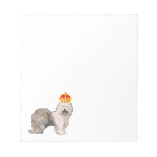 Old English Sheepdog with Crown note pads