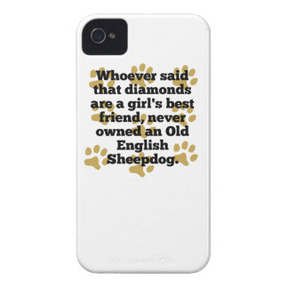 Old English Sheepdogs Are A Girl's Best Friend Case-Mate iPhone 4 Cases