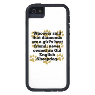 Old English Sheepdogs Are A Girl's Best Friend iPhone 5 Covers