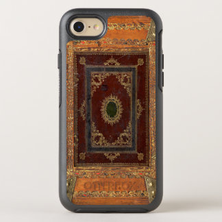 Old Engraved Decorated Leather Book Cover OtterBox Symmetry iPhone 7 Case