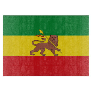 Old Ethiopian flag Cutting Board