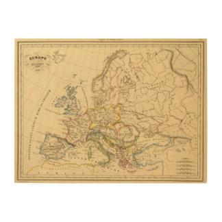 Old Europe Wood Print