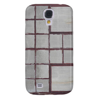 Old factory wood window on a white background galaxy s4 case