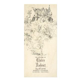 Old Fairytale Castle Wedding Programs Personalised Rack Card