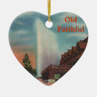 Old Faithful Ceramic Heart Decoration
