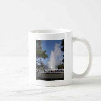 Old Faithful Geyser - Yellowstone National Park Basic White Mug