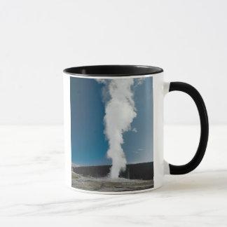 Old Faithful geyser , Yellowstone National Park Mug