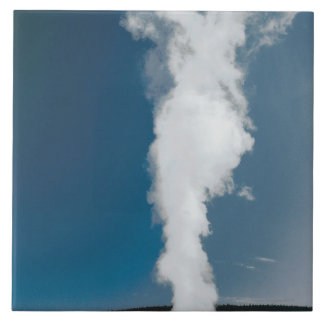 Old Faithful geyser , Yellowstone National Park Tile