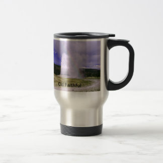 Old Faithful in Yellowstone National Park 15 Oz Stainless Steel Travel Mug