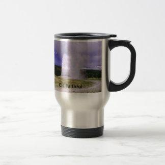 Old Faithful in Yellowstone National Park 15 Oz Stainless Steel Travel Mug