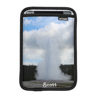 Old Faithful Photo at Yellowstone (Personalize) iPad Mini Sleeve