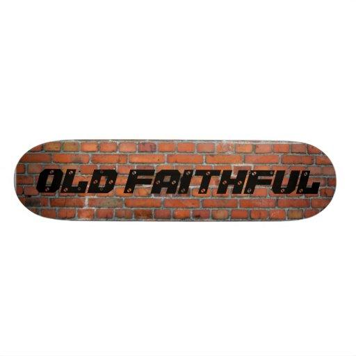 OLD FAITHFUL WALL. CUSTOM SKATEBOARD