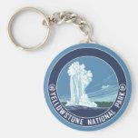 Old Faithful - Yellowstone National Park Basic Round Button Key Ring