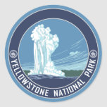 Old Faithful - Yellowstone National Park Round Sticker