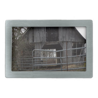 Old Farm Barn Belt Buckle
