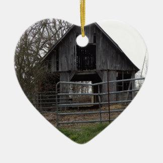 Old Farm Barn Christmas Ornament
