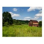 Old farm barn postcard