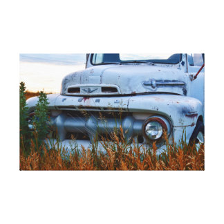 old farm truck done with canvas