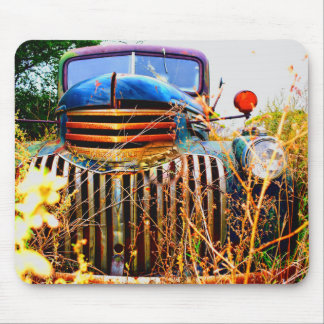 old farm truck mouse pad