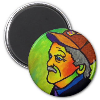 Old Farmer J 1 by Piliero 6 Cm Round Magnet