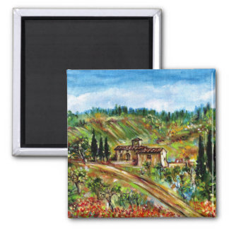 OLD FARMHOUSE IN CHIANTI -TUSCANY MAGNETS