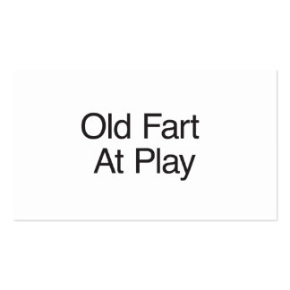 Old Fart At Play Pack Of Standard Business Cards