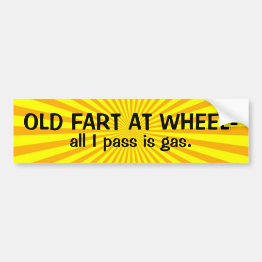 Old Fart at Wheel Bumper Sticker