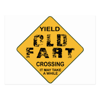 Old Fart Crossing Postcard