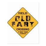 Old Fart Crossing Postcard