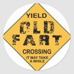 Old Fart Crossing Sticker