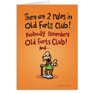Old Farts Club Greeting Card