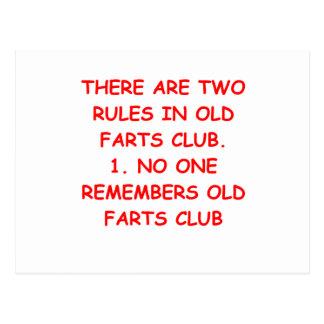 old farts club postcard