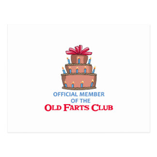OLD FARTS CLUB POSTCARD