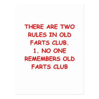 old farts club postcards