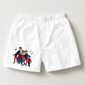 Old Fashion Barbershop Quartet Boxers