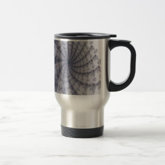 Old Fashion Black Lace Fractal Stainless Steel Travel Mug