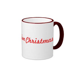 Old fashion christmas coffee mugs