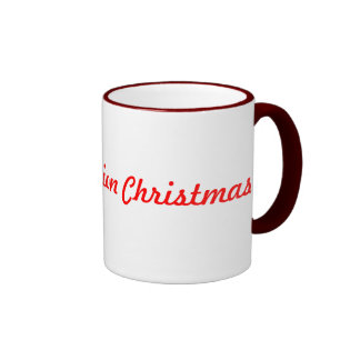 Old fashion christmas coffee mugs