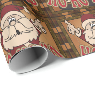 Old Fashion Christmas Santa Claus Wrapping Paper