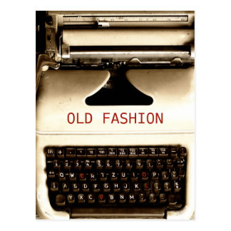 Old Fashion Love - Typewriter Machine Postcard