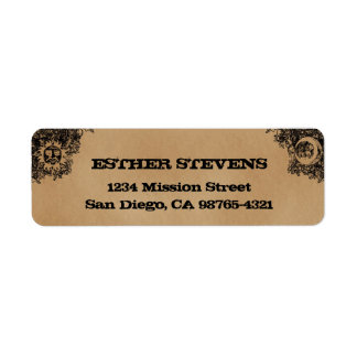 Old Fashion Ouija Board Halloween return address Return Address Label