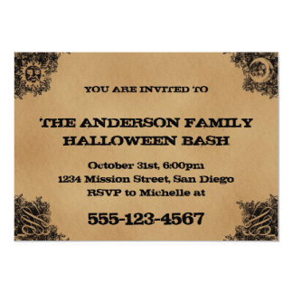 Old Fashion Ouija Board Inspired Halloween Party 5x7 Paper Invitation Card