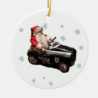 Old fashion police Santa Ornament