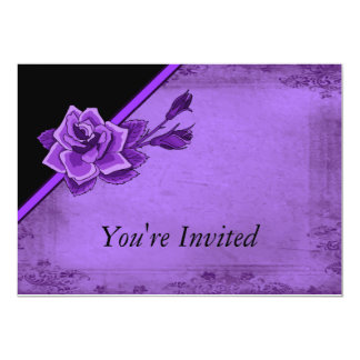 Old Fashion Purple Rose Floral Card