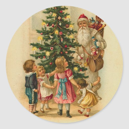 Old Fashion Santa Christmas sticker