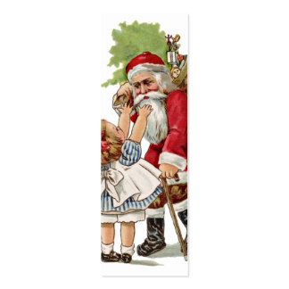 Old Fashion Santa LOVE Note or Gift card Business Card