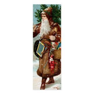 Old Fashion Santa LOVE Note or Gift tag - Custom Pack Of Skinny Business Cards